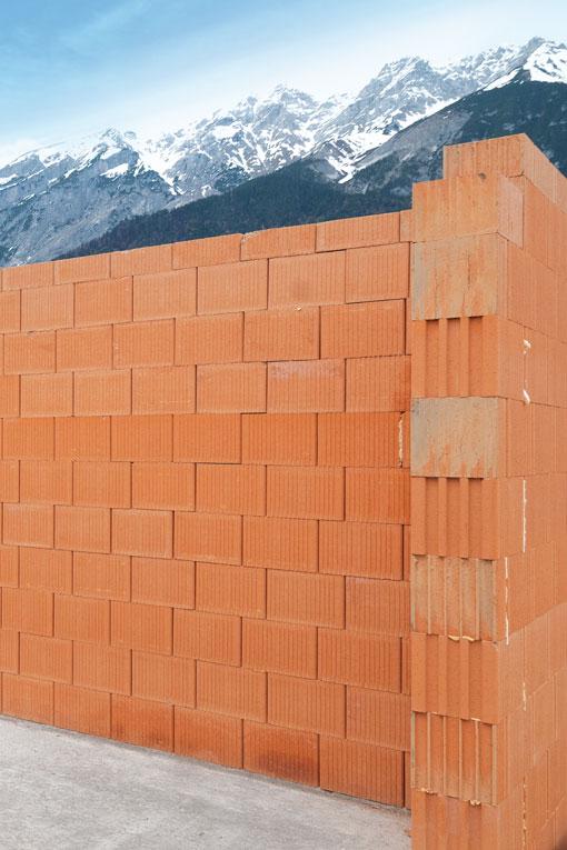 Ziegelmauer Berge